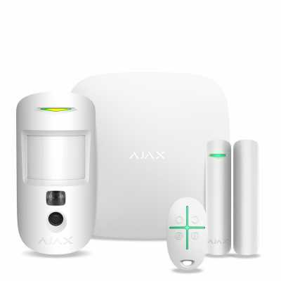 Беспроводной комплект сигнализации Ajax StarterKit Cam white